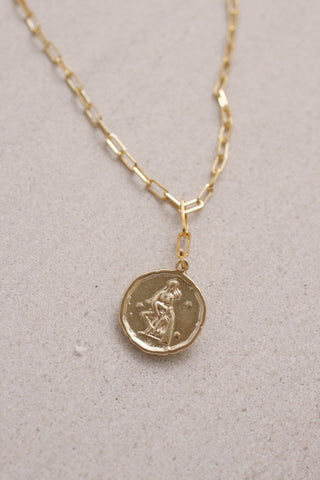 Paperclip Chain Zodiac Necklace