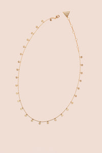 Mini Coin Scatter Necklace - Gold
