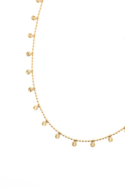 Mini Coin Scatter Choker Necklace - Gold
