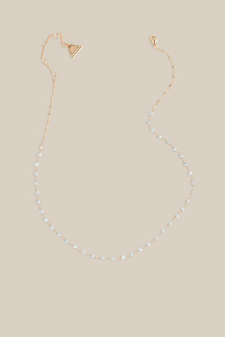 Delicate Beaded Necklace - Grey