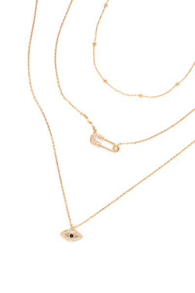 Mini Pendant Necklace Pack of 3 - Gold