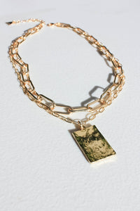 Double Chain Layered Necklace - Gold