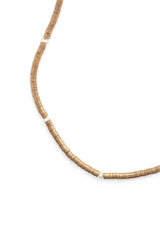 Short Single Layer Necklace - Pearl