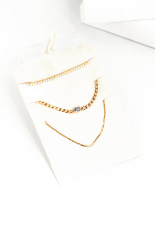 Chain Necklace Set - Blue