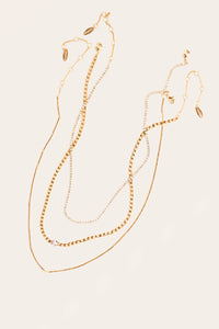 Chain Necklace Set - Pink