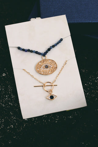 Eye Pendant Set - Blue