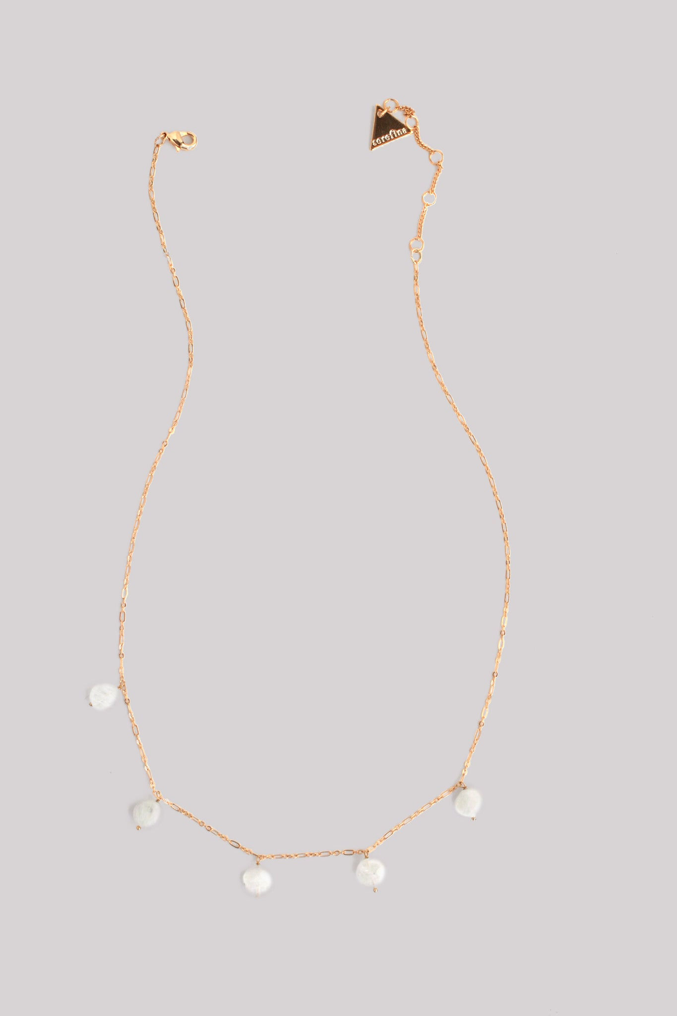 Dainty Scattered Stone Necklace - Moonstone