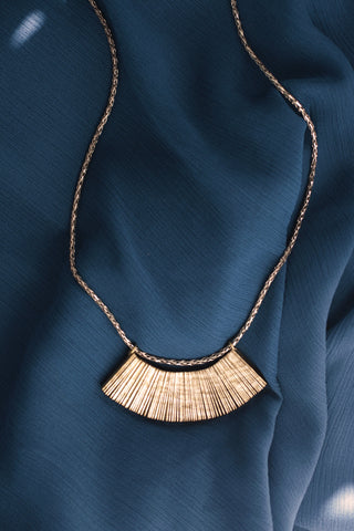 Fringe Pendant Long Necklace