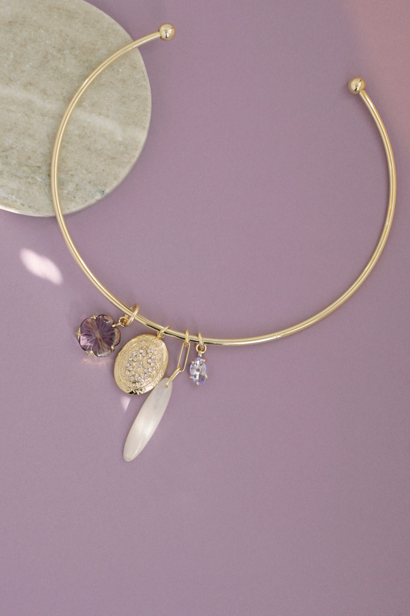 Locket Charm Choker