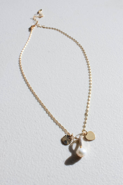 Delicate Stone and Charms Necklace