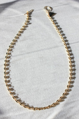 Chain Link Toggle Clasp Necklace