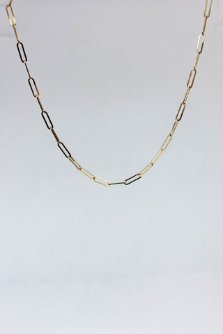 Delicate Paperclip Chain Necklace