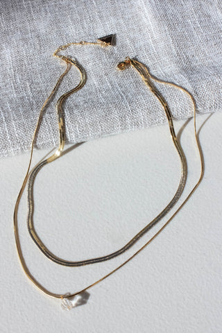 Raw Quartz Layered Necklace
