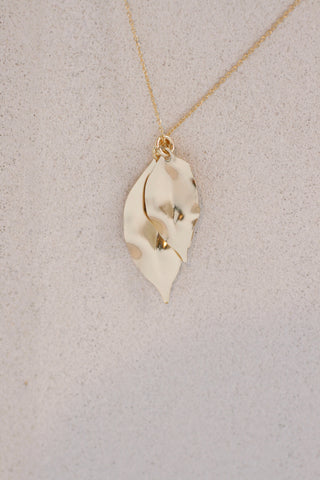 Dual Leaf Pendant Necklace