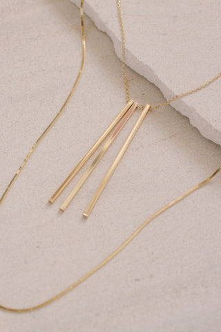 Long Linear Layered Necklace