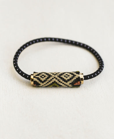Laos Silk Loomed Pony Bracelet