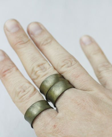 Nuckles Adjustable Block Ring (Set of 3)