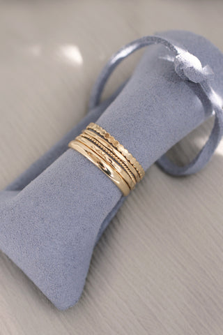 Simple Stackable Rings - Set of 5