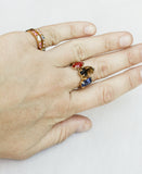 Colored Single Stone Assorted Vintage Deco Stacking Rings