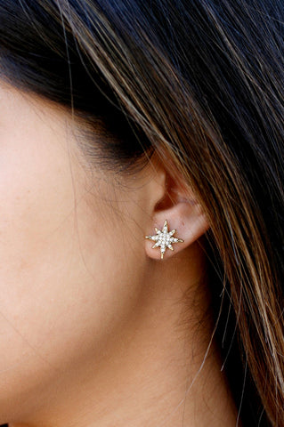 Small Star Pave Stud - CLEAR