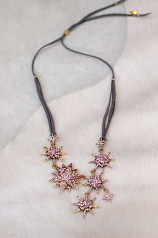 Starburst Pave Statement Necklace - MULTI