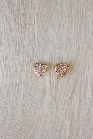 Matched Petite Heart Critter Studs