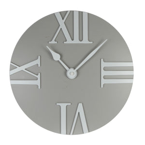 Hometime Wall Clock - Domed Roman Quarter Dial