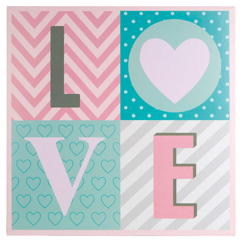 PREMIER KIDS LOVE WALL PLAQUE 40 X 40CM - 2800777