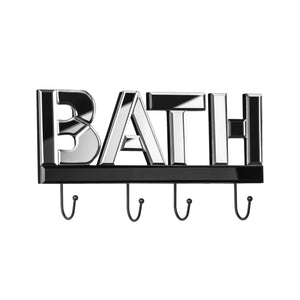 Premier Bath Mirrored 4 Hook Wall Hanger-0509803