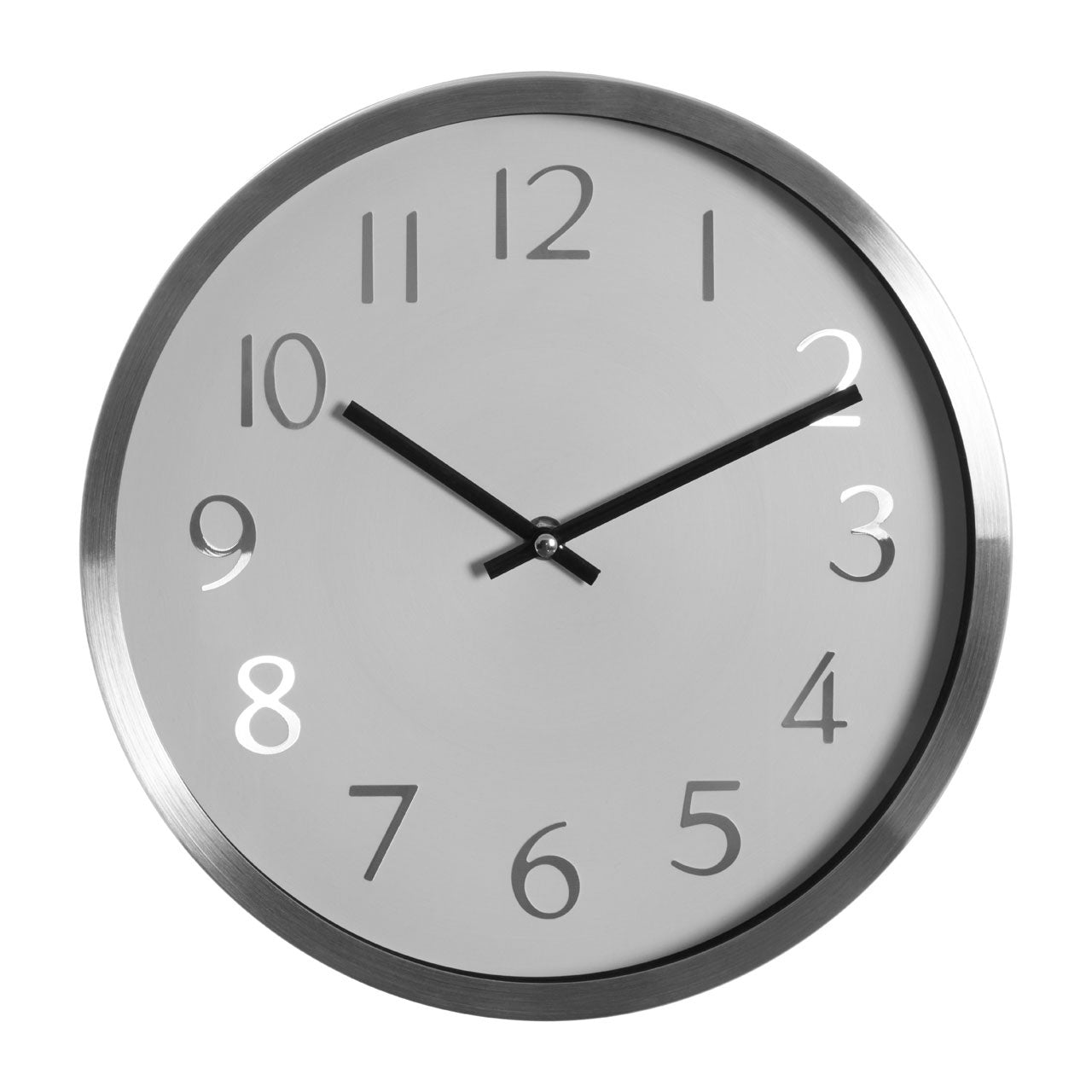Hometime Black Case Silent Sweep Wall Clock Plastic Large Round Home Widdop ii