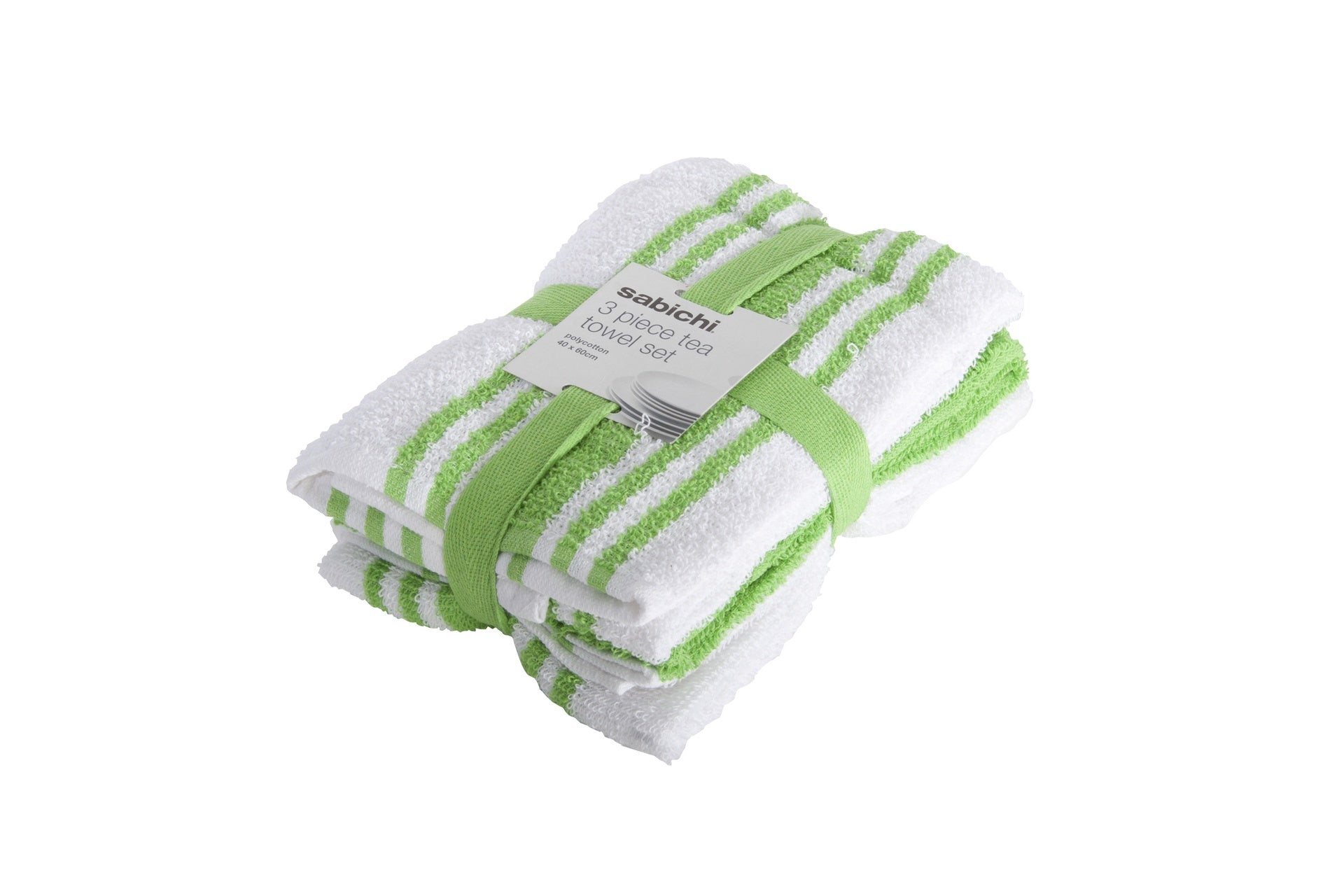 Sabichi 3pc Green Tea Towel Set - 177216