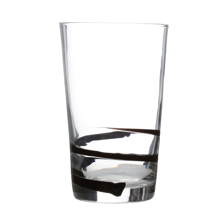 PREMIER SL 550ML BLACK SWIRL GLASS TUMBLER-1404778 - Homely Nigeria