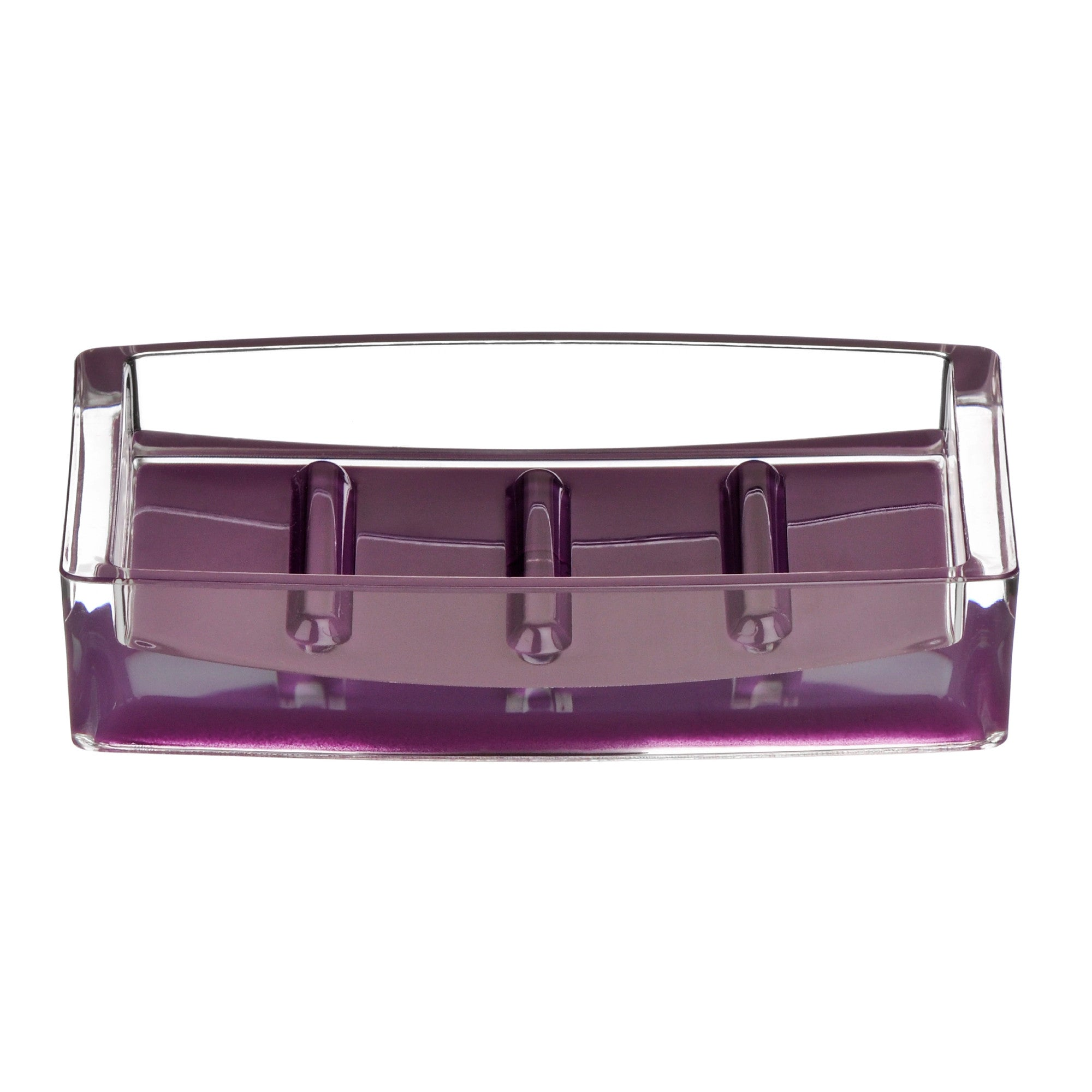 PREMIER PURPLE/CLEAR SOAP DISH ACRYLIC- 1601392