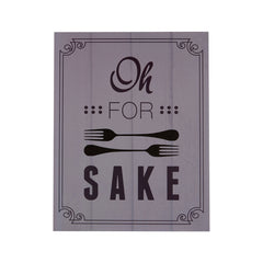 PREMIER OH FOR FORK WALL PLAQUE 20 X 25.5CM - 2800769
