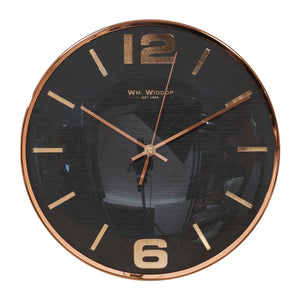 Wm.Widdop Wall Clock Grey Dial Copper Finish Numbers & Case - W7637