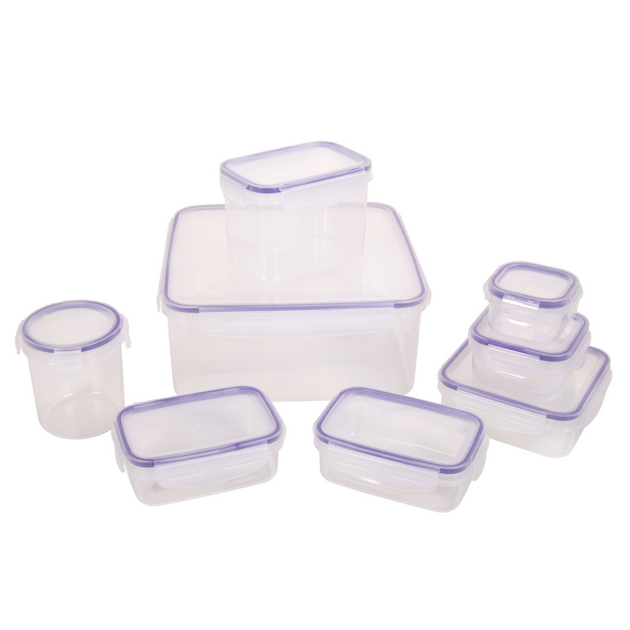 Wham Set of 8 Seal Fresh Food Boxes Clear- 20120
