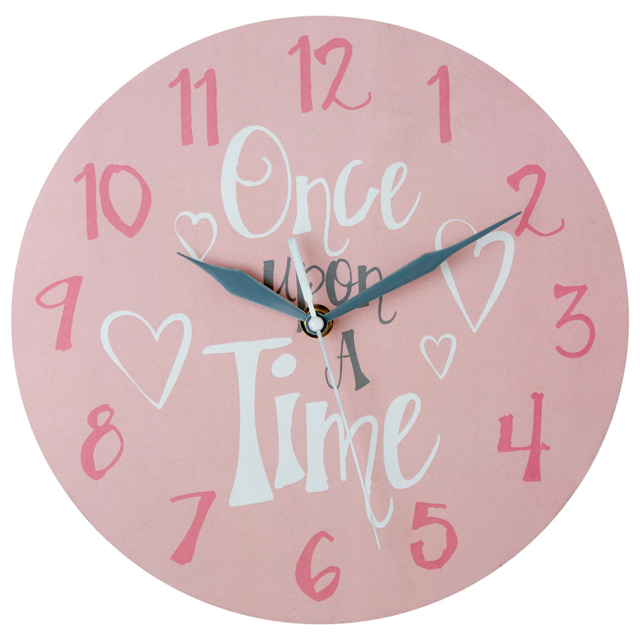 PREMIER KIDS 25CM DIA ONCE UPON A TIME WALL CLOCK-2201008