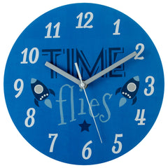 PREMIER KIDS 25CM DIA TIME FLIES WALL CLOCK- 2201009
