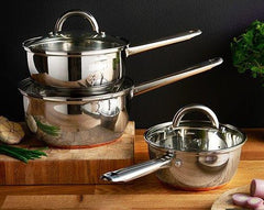 Sabichi 3pc Stainless Steel Pan set With Copper Coated base- 57992037 - Homely Nigeria