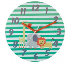 PREMIER KIDS 25CM DIA SAFARI WALL CLOCK- 2201010