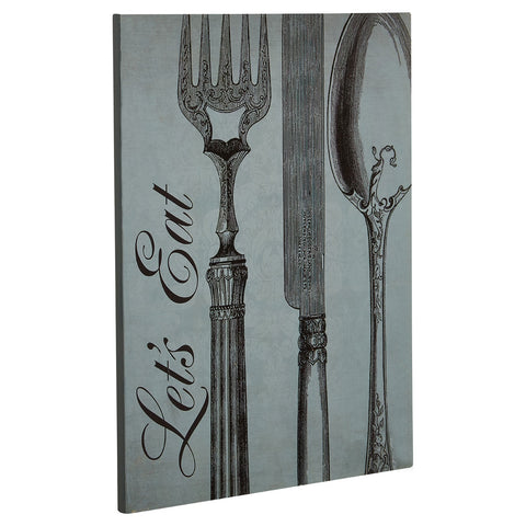 PREMIER LETS EAT WALL PLAQUE 20 X 25CM - 2800768