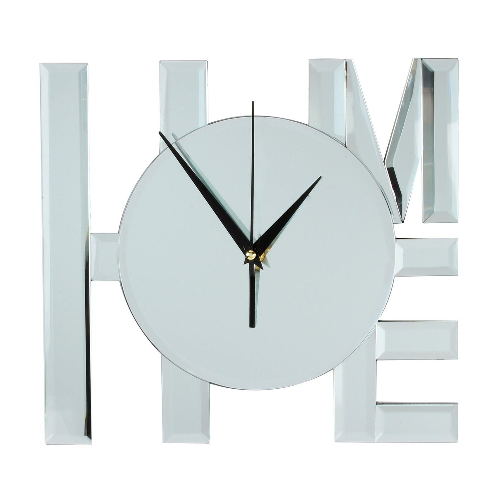 Hometime Hestia Glass Mirrored Wall Clock HOME - HE600