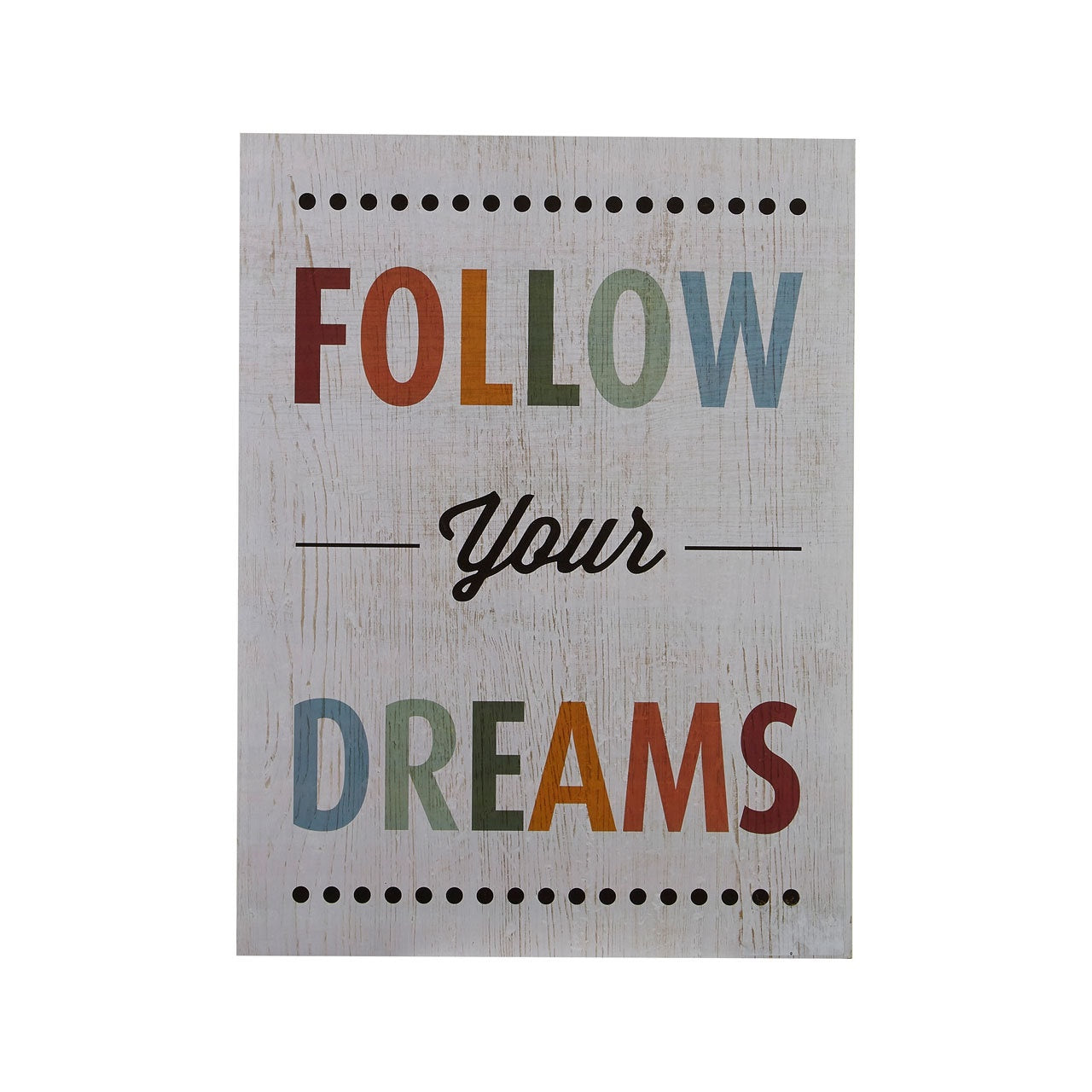 PREMIER FOLLOW YOUR DREAMS WALL PLAQUE 30 X 40CM - 2800749