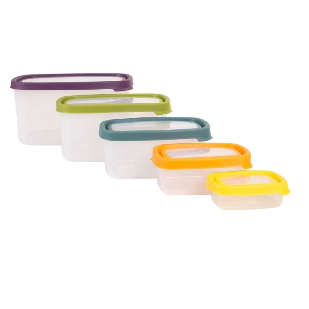 Wham Seal it 5pc Rectangle food box set (3.8L,2.1L,1.1L,440ML,115ML) - 40540