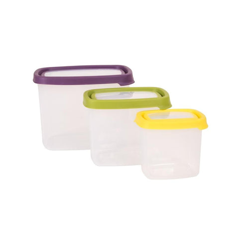 Wham Seal it 3pc Rect. food box set (2.1L,1L,430ML) - 40560