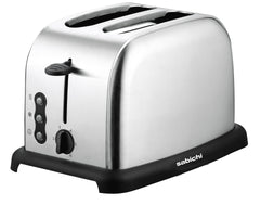 Sabichi Brushed Stainless Steel 2 Slice Toaster - 165220