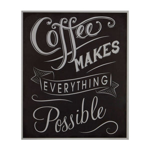 PREMIER COFFEE MAKES EVERYTHING POSSIBLE WALL PLAQUE - 2800762