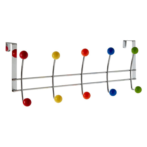 PREMIER CHROME 10 HOOK OVER DOOR HANGER MULTI COLOUR - 0509911