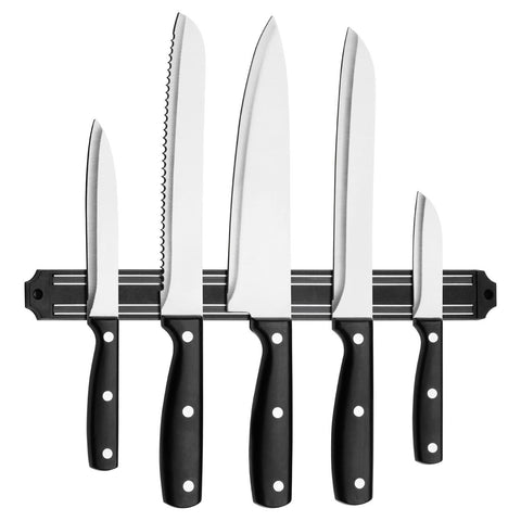 PREMIER 5PC S/S KNIFE SET WITH MAGNETIC STORAGE - 0907084