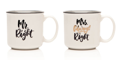 Sabichi Mr Right & Mrs Always Right Assorted Mugs- 185129